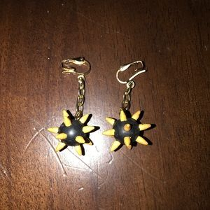Vintage Spike Flails Earrings Medieval Goth Punk